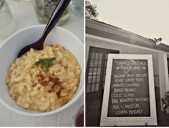 Mac-cheese and Food Cafe menu