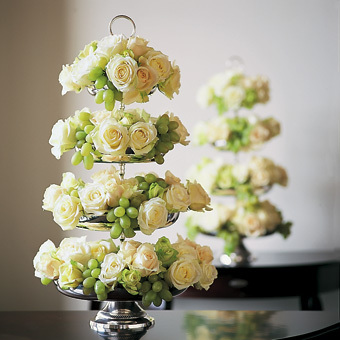 floral centerpieces with grapes