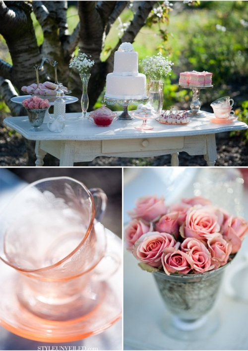 Cherry blossom wedding table decors