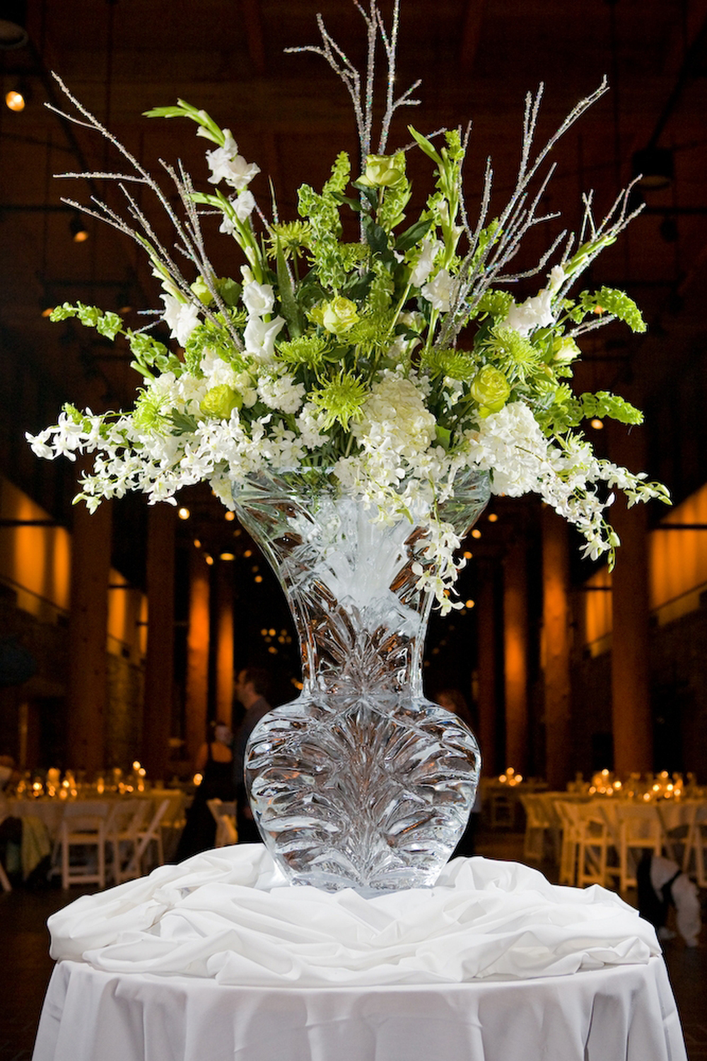 Winter wedding Tableware Centerpiece