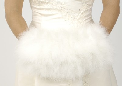 Winter wedding Bridal Wear Closeup